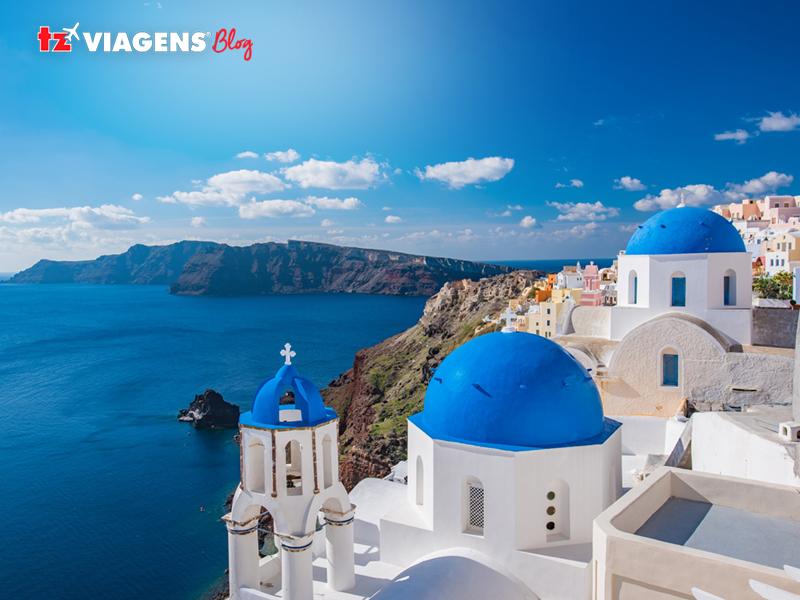 Ilha de Santorini na Grécia